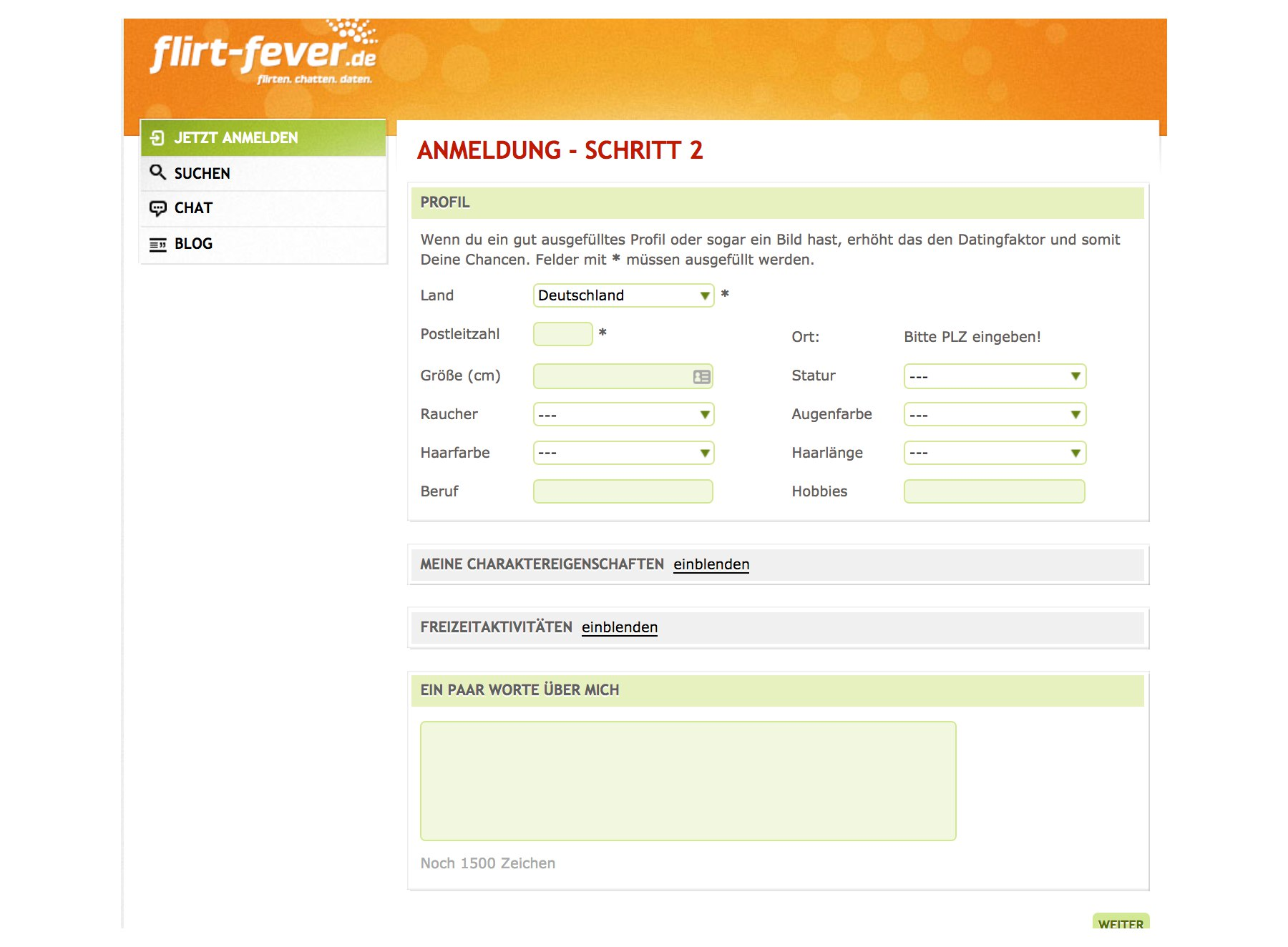 Flirt Fever Anmeldung 2