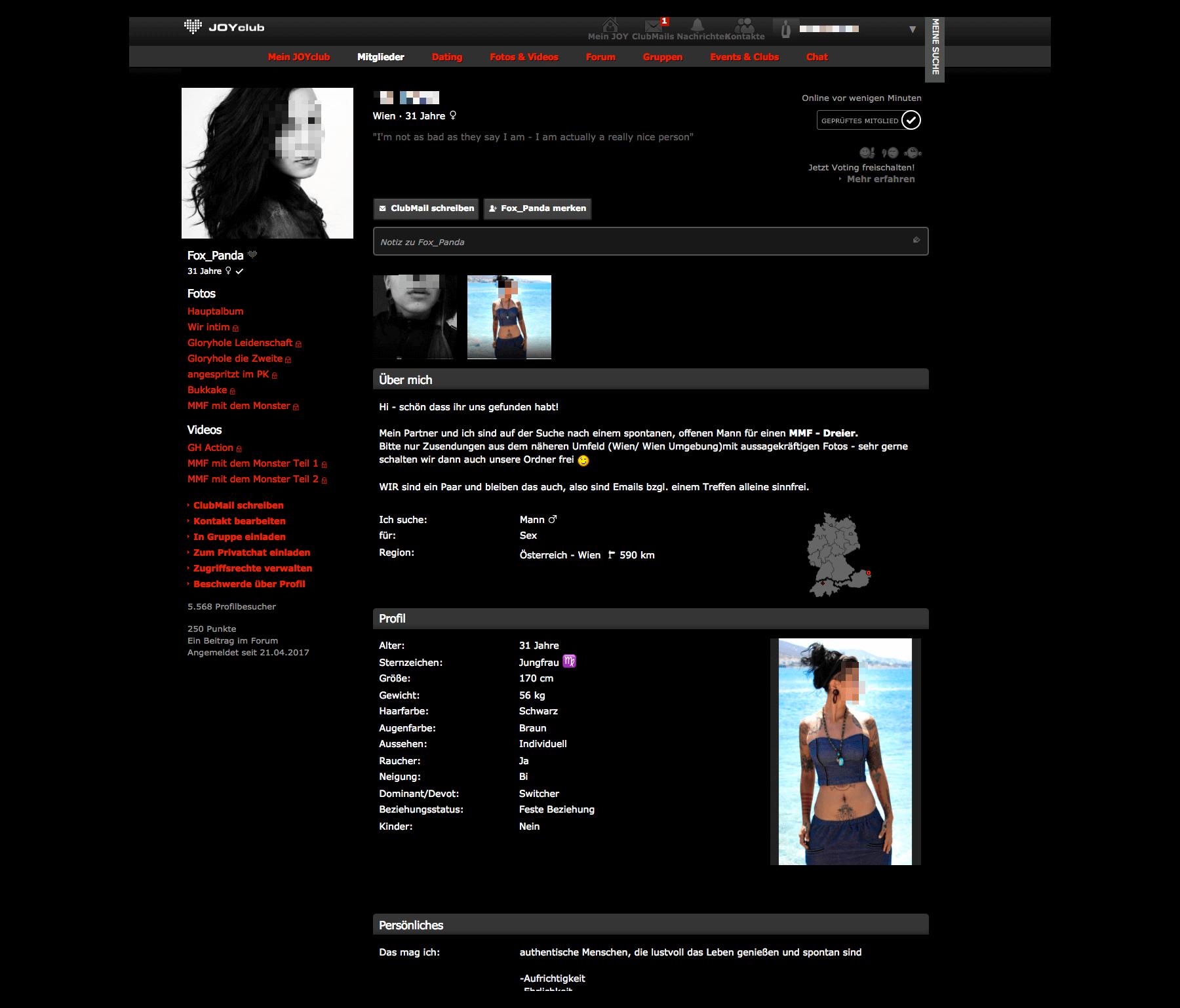 Joyclub Profil