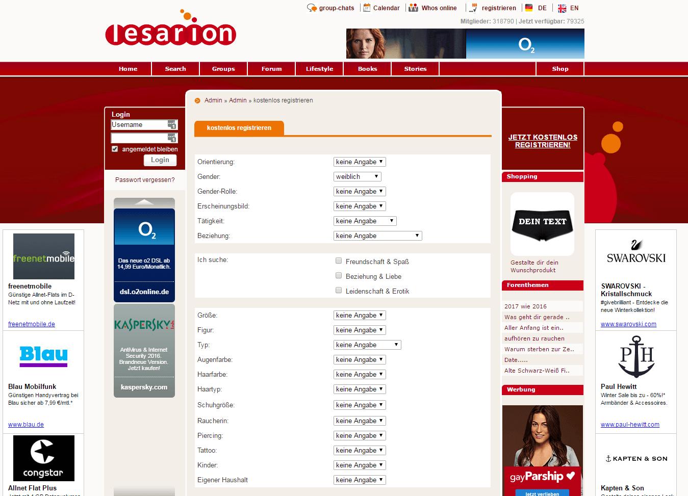 Lesarion Profil ausfüllen
