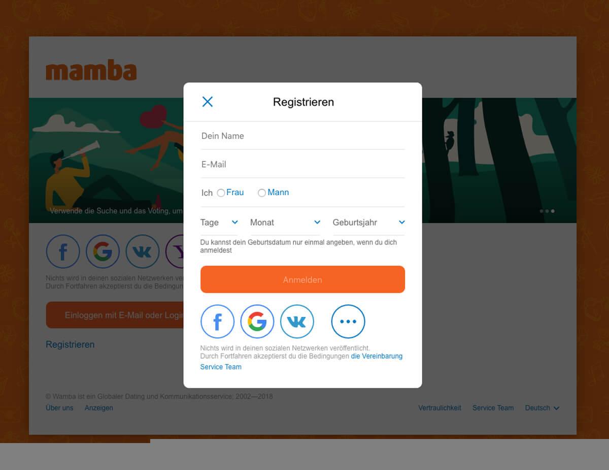 Mamba Create Profile