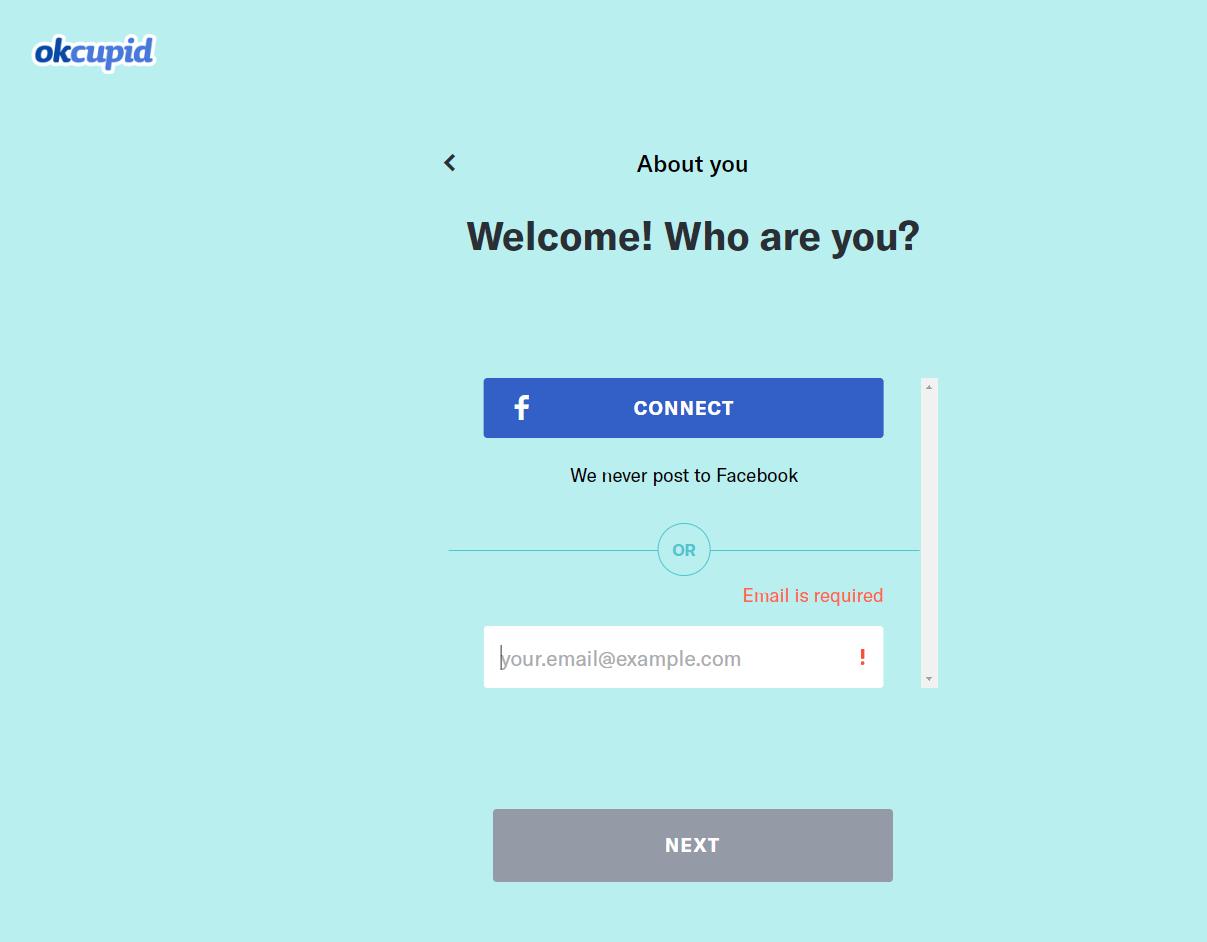 OKcupid Registrierung