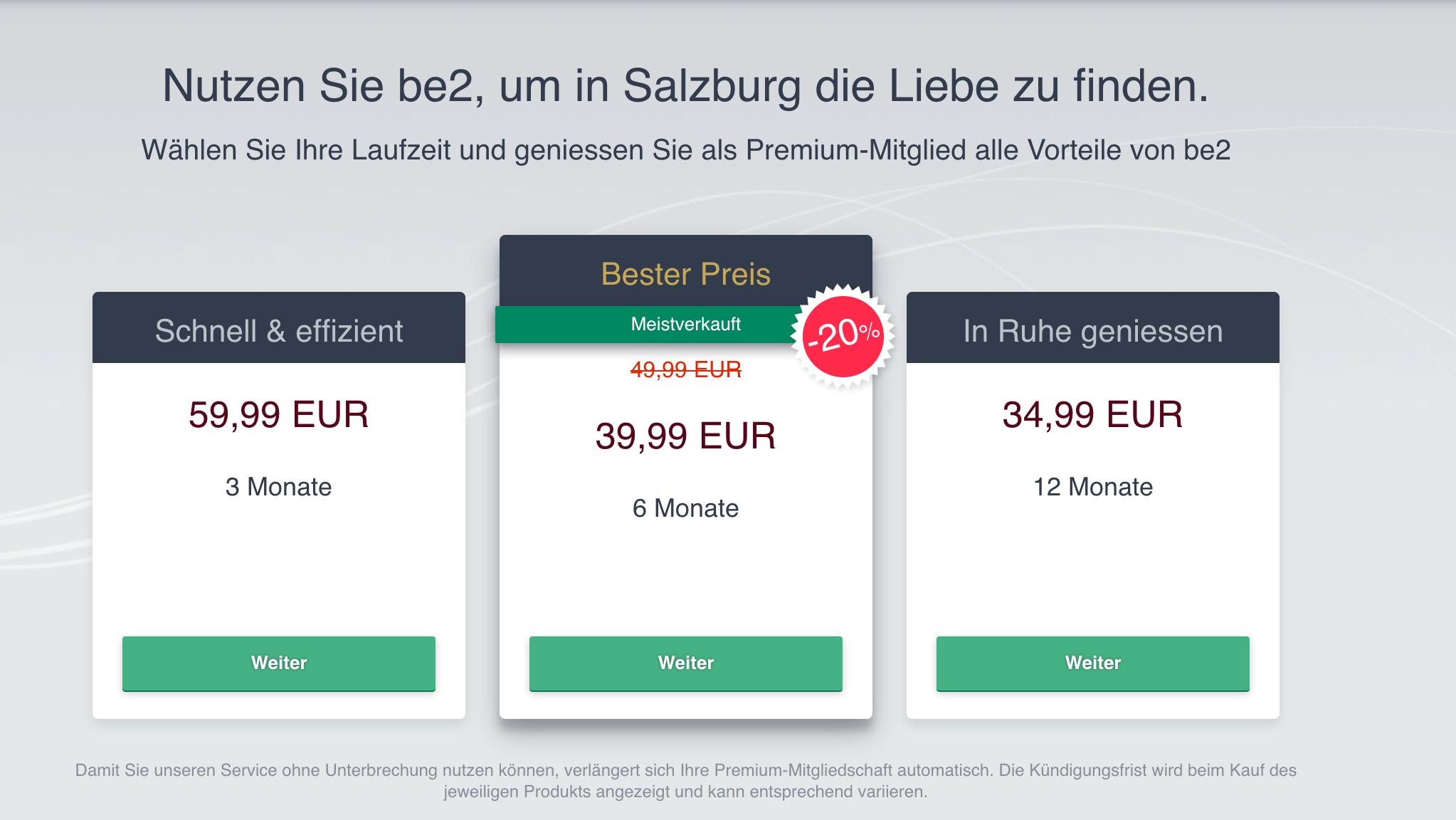 be2 Preise Österreich