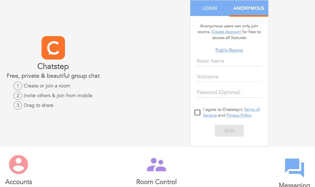 Chatstep Homepage