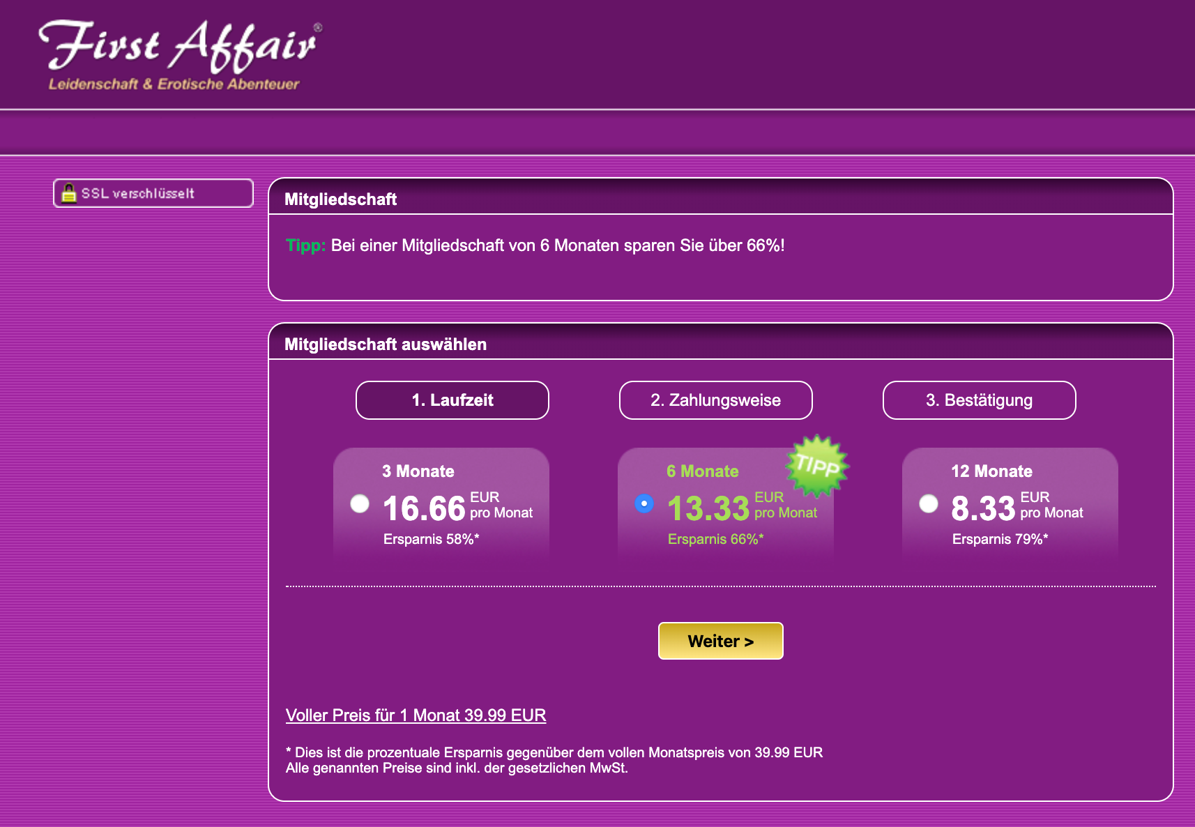 First Affair Kosten im Vergleich - carolinavolksfolks.com