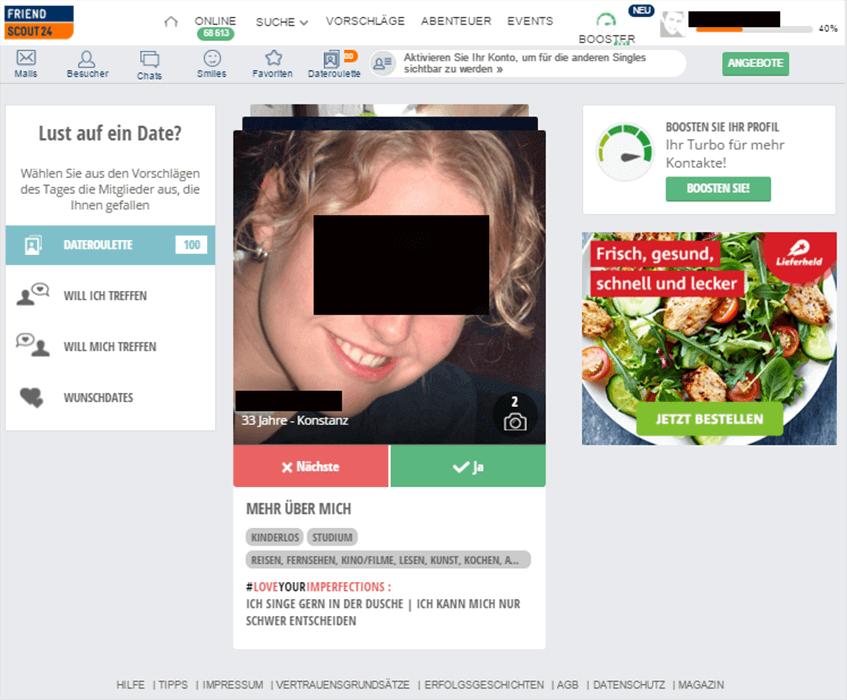Friendscout Profil