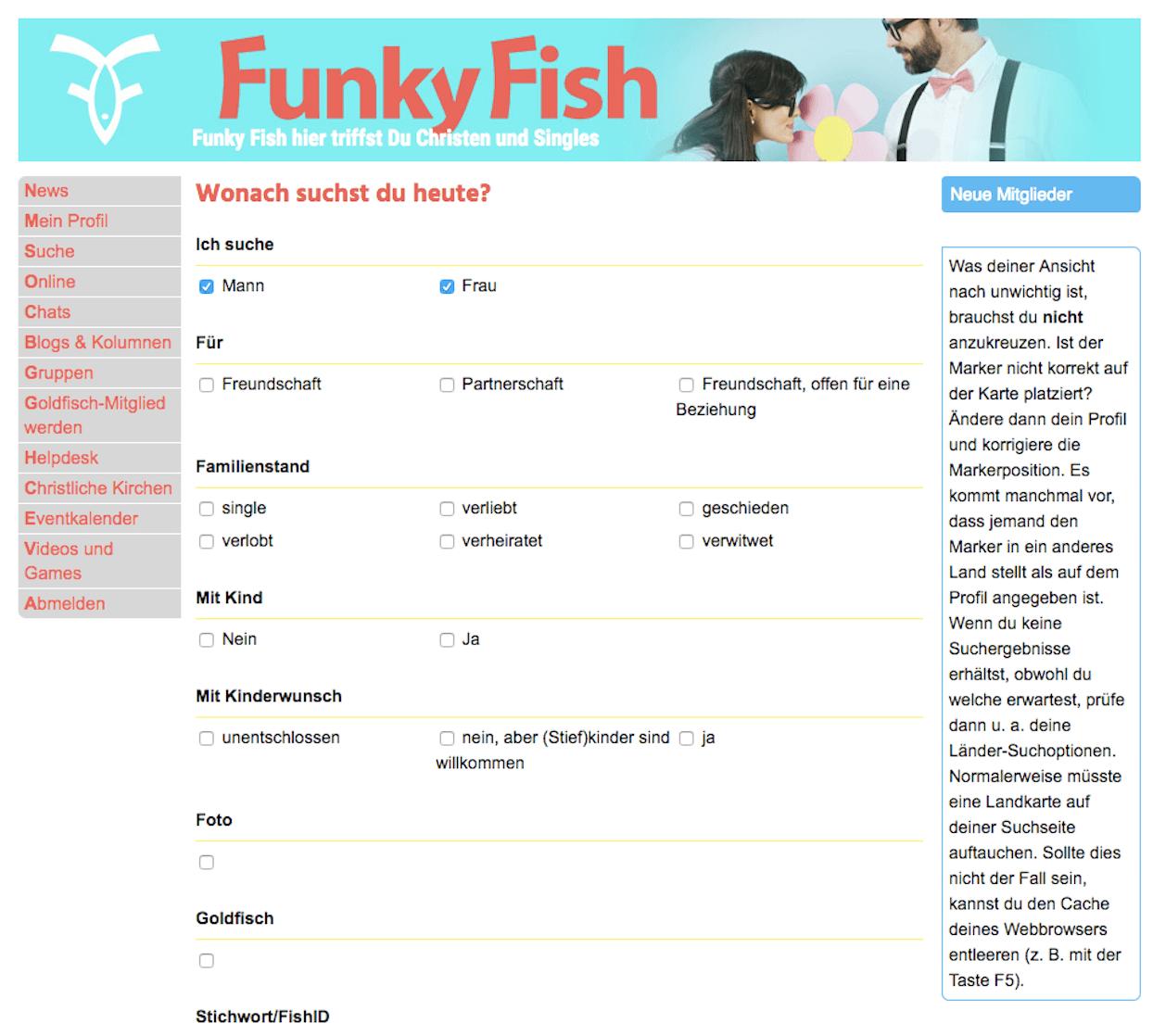 funkyfish-suchmaske