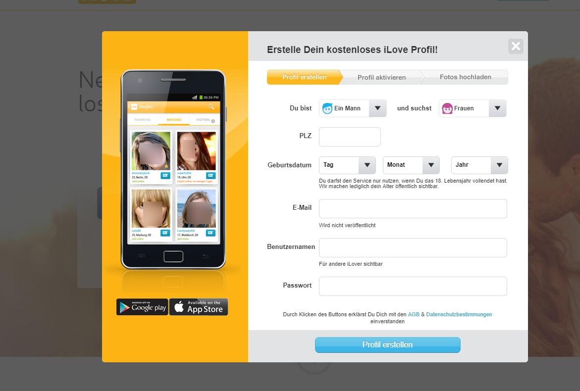 iLove Registrierung