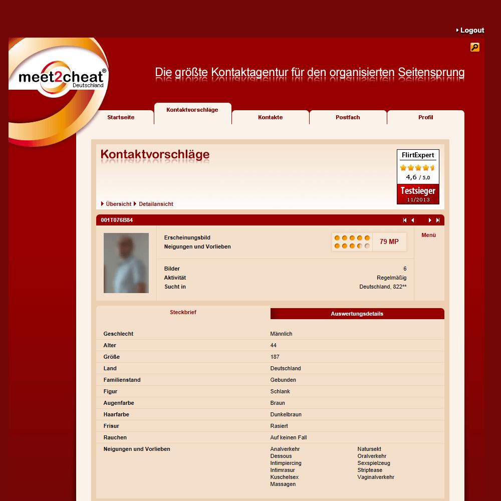 Meet2cheat Profil