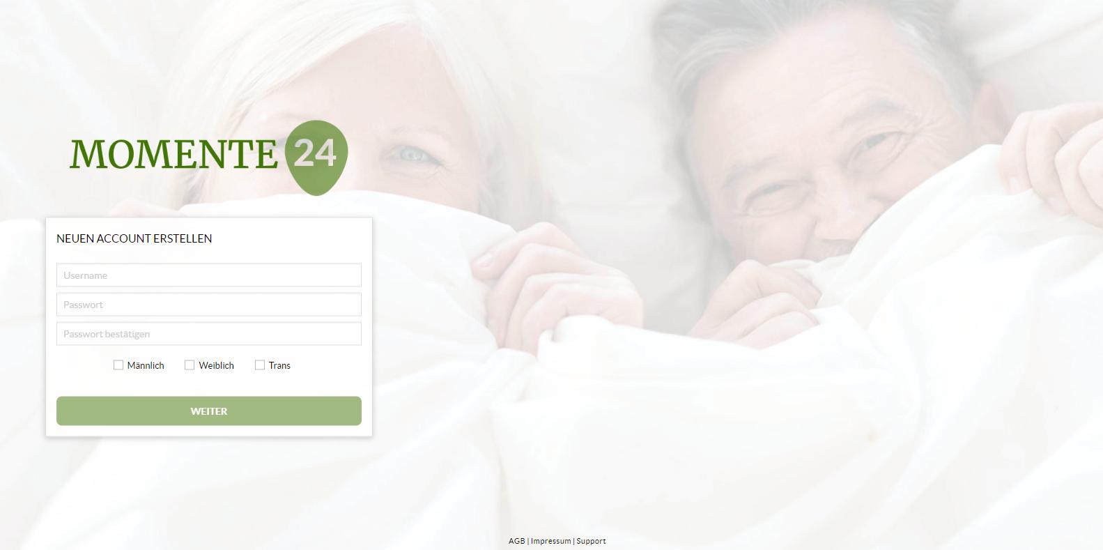 Momente24 Registrierung