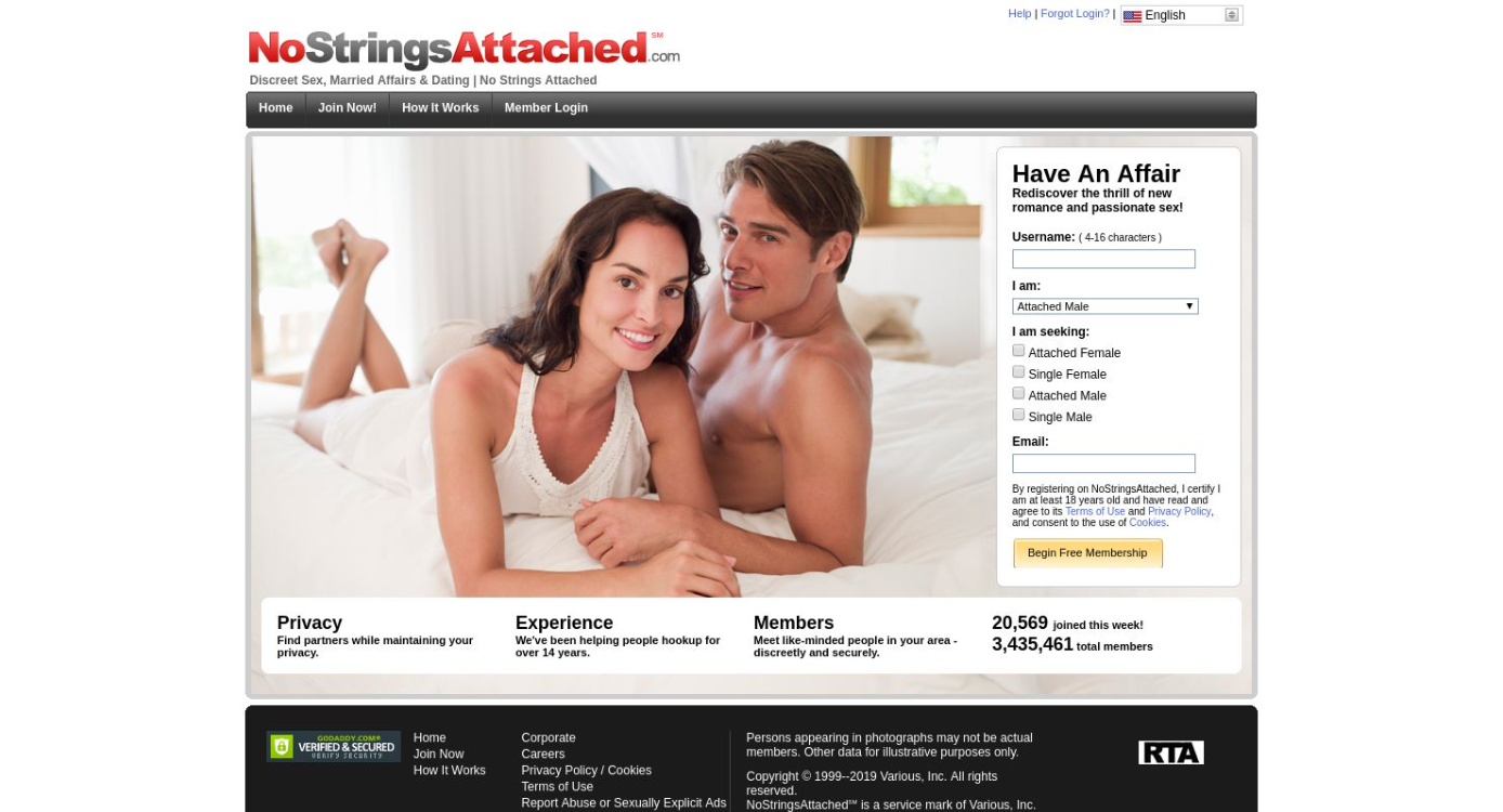 No Strings Attached Startseite