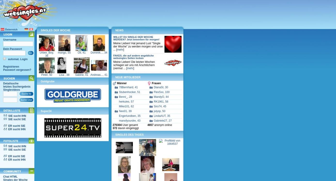 WebSingles Startseite