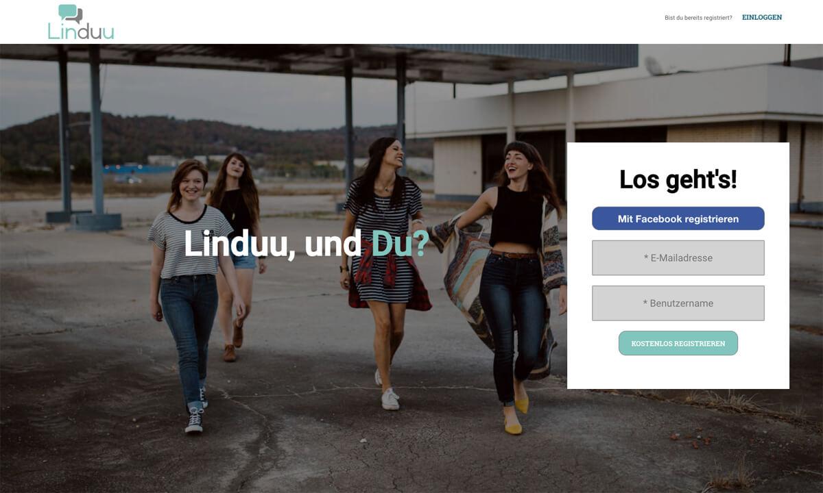Linduu Landing Page