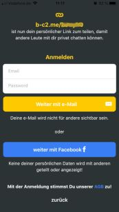 Base Chat Anmeldung