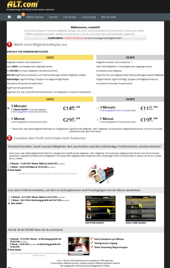 Alt.com DE Price