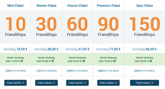 Interfriendship DE Preis