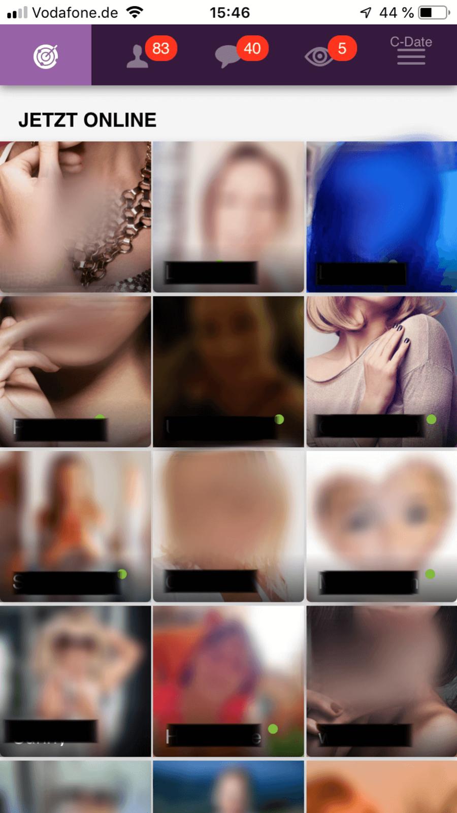 C-Date App Screenshot