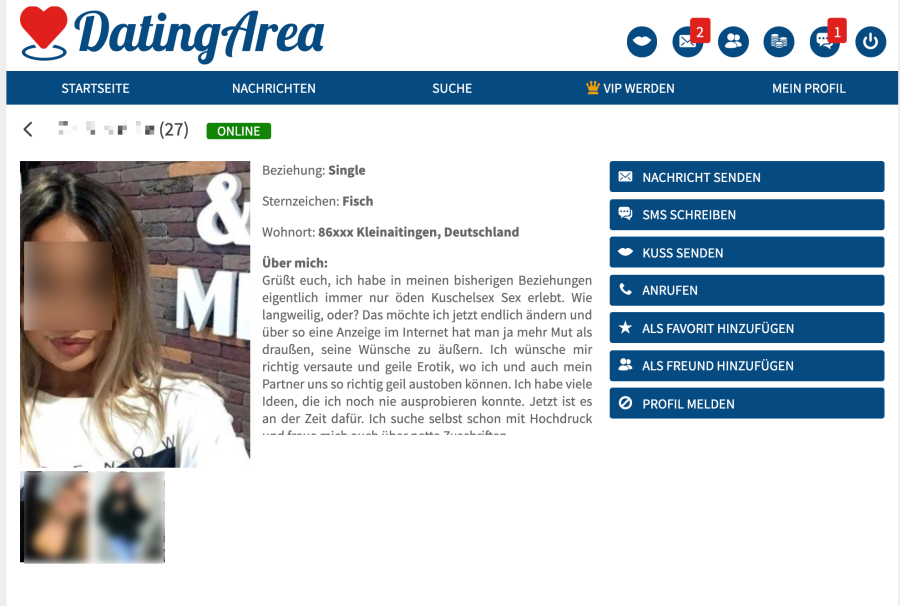 DatingArea Profil
