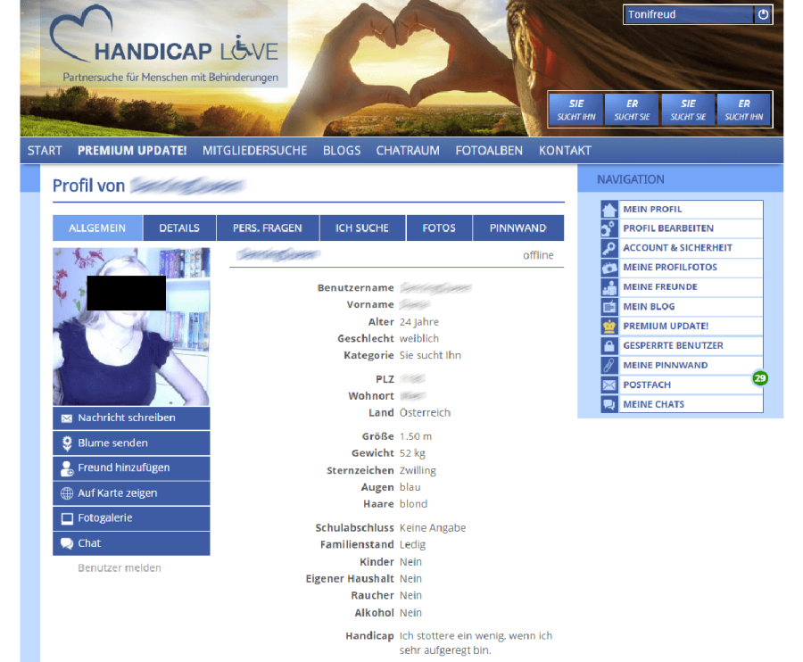 Handicap Love Profil
