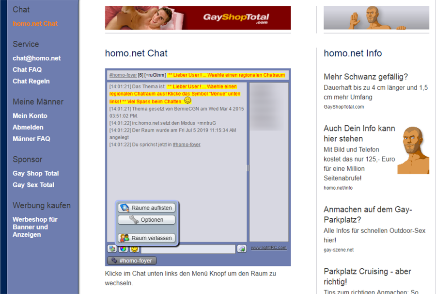 Homo.net Chat