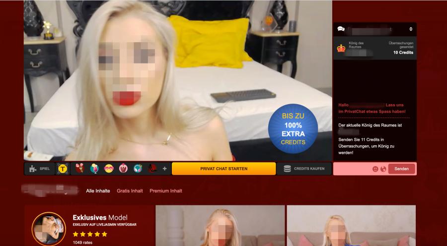 Livejasmin Webcambereich