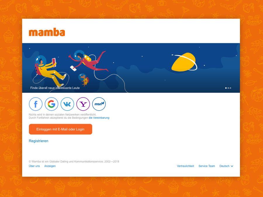 Mamba Landing Page
