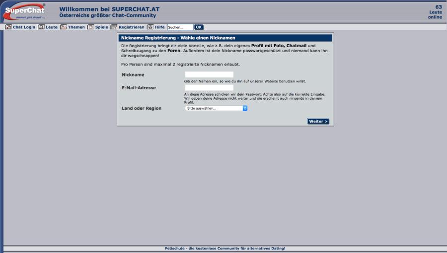 Superchat Registrierung
