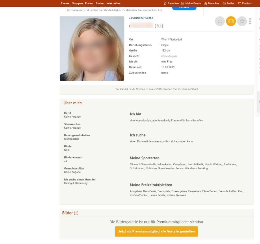 Wiener Singles User Profil