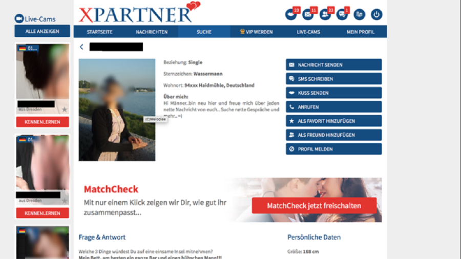 XPartner Frauenprofil