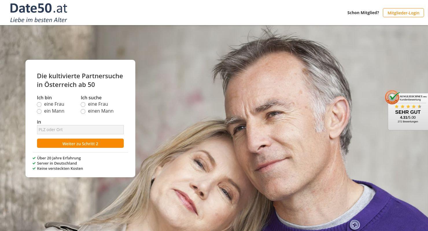 Partnersuche ab 50 im 50plus-Treff