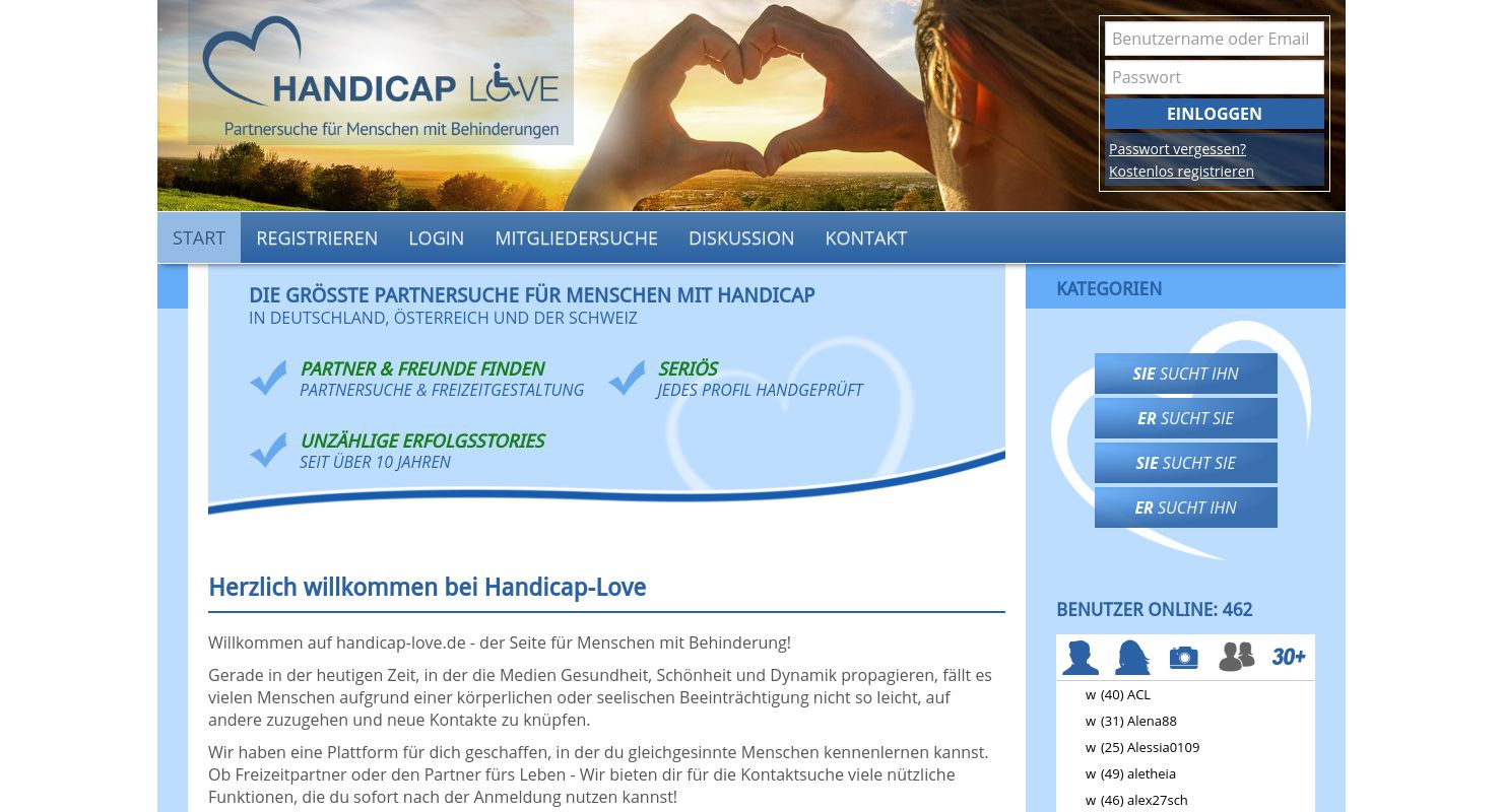 Handicap Love Test Mai 2021 - Liebe für besondere Menschen